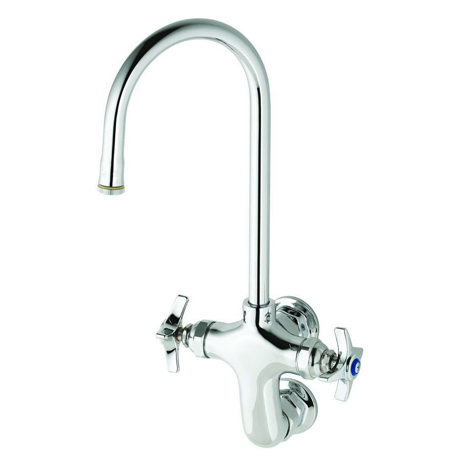 T S B 0315 Wall Mounted Double Pantry Faucet With Vertical 3 Centers 11 7 16 High Rigid