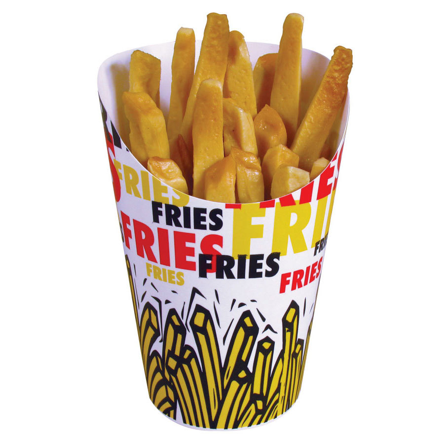 Solo GSP34-83013 4 oz. Paper French Fry Scoop Cup 1200/Case