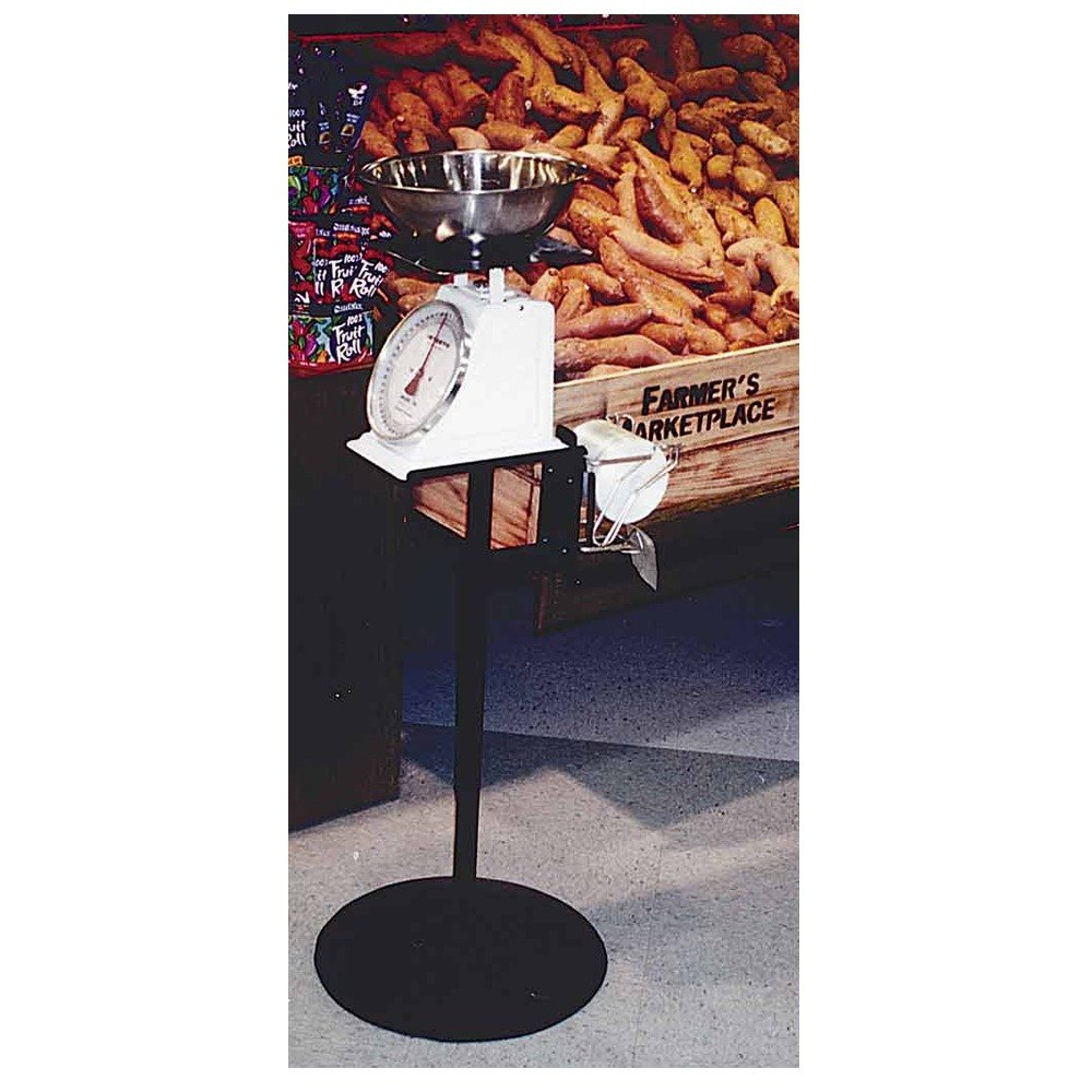 Free Standing Adjustable Produce Bag and Scale Holder 28""