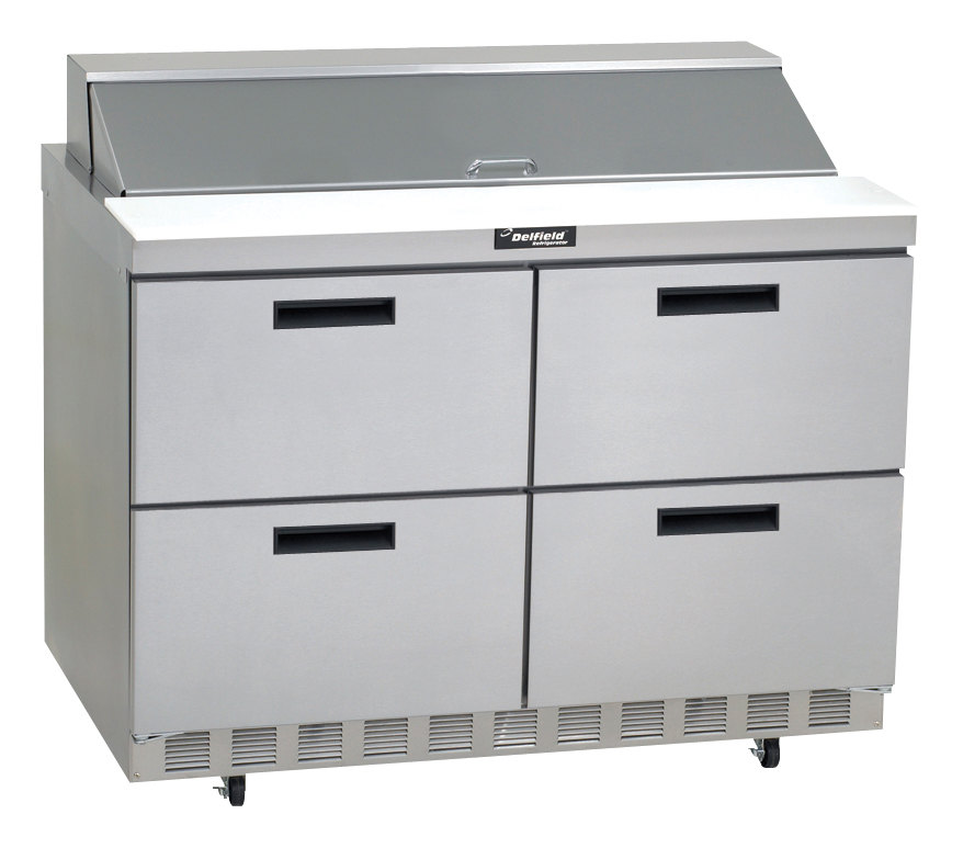 """Coffee Table With Fridge Drawer: Delfield D4448N-18M 48"""" 4 Drawer Mega Top Refrigerated"""