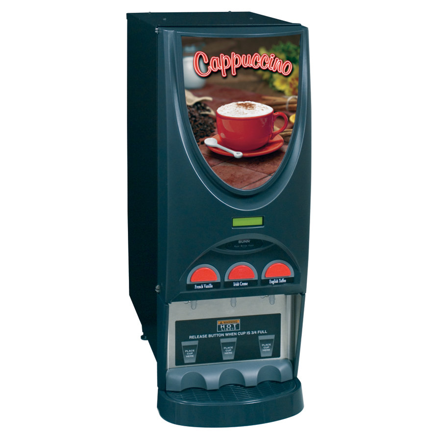 Bunn iMIX-3S+ BLK Powdered Cappuccino Dispenser with 3 Hoppers - 120V (Bunn 38600.0001) at Sears.com