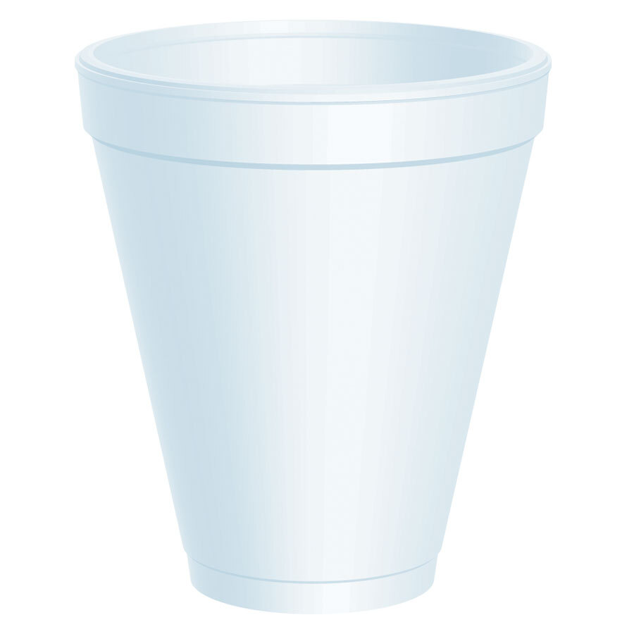 Dart 12J16 12 oz. Medium Height White Customizable Foam Cup 1000/Case