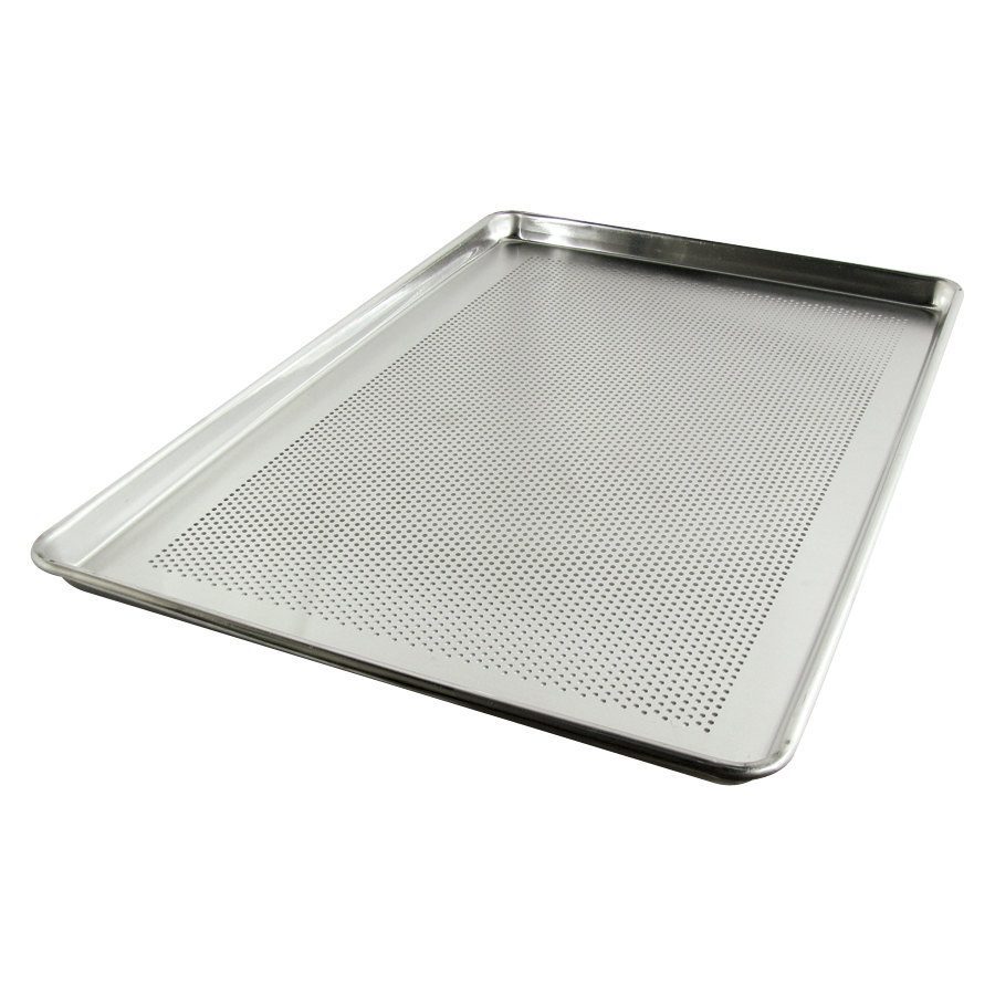 18 inch x 26 inch Full Size Perforated Aluminum Bun / Sheet Pan