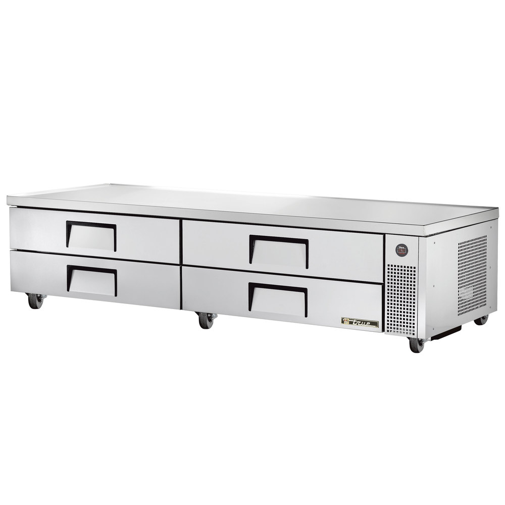 "True TRCB-96 96"" Four Drawer Refrigerated Chef Base"