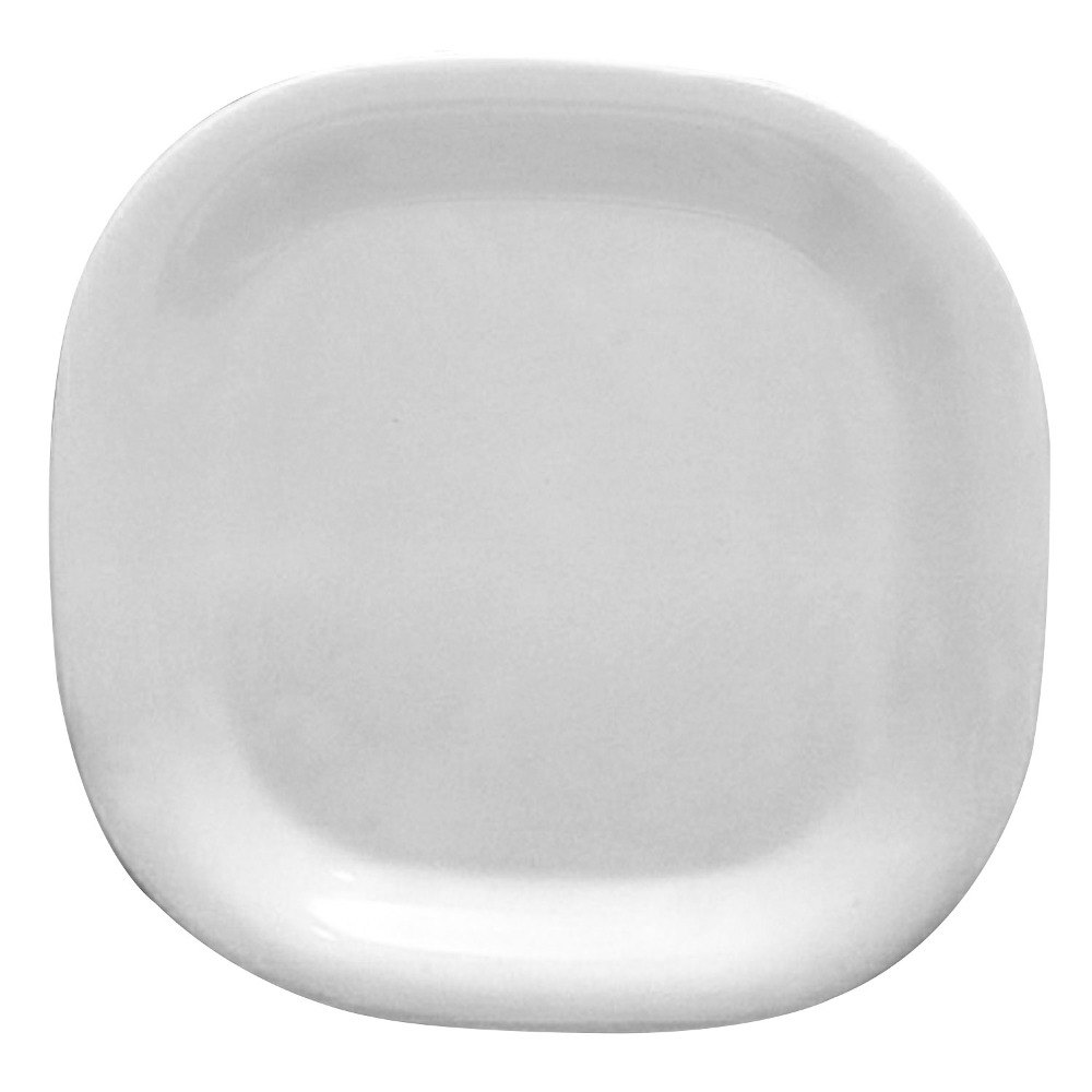 "Passion White Round Square Plate - 14"" x 14"" 6 / Pack"