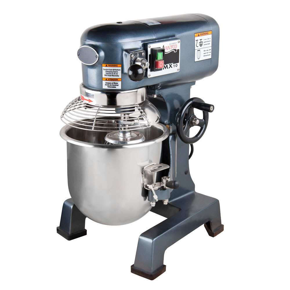 Avantco MX10 Gear Driven 10 qt. Commercial Planetary Stand Mixer with Guard - 110V
