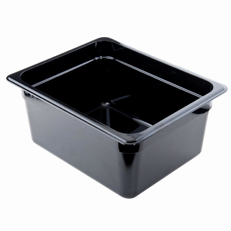 Cambro 26HP110 Black H-Pans 6 inch Deep 1/2 Size High Heat Food Pan