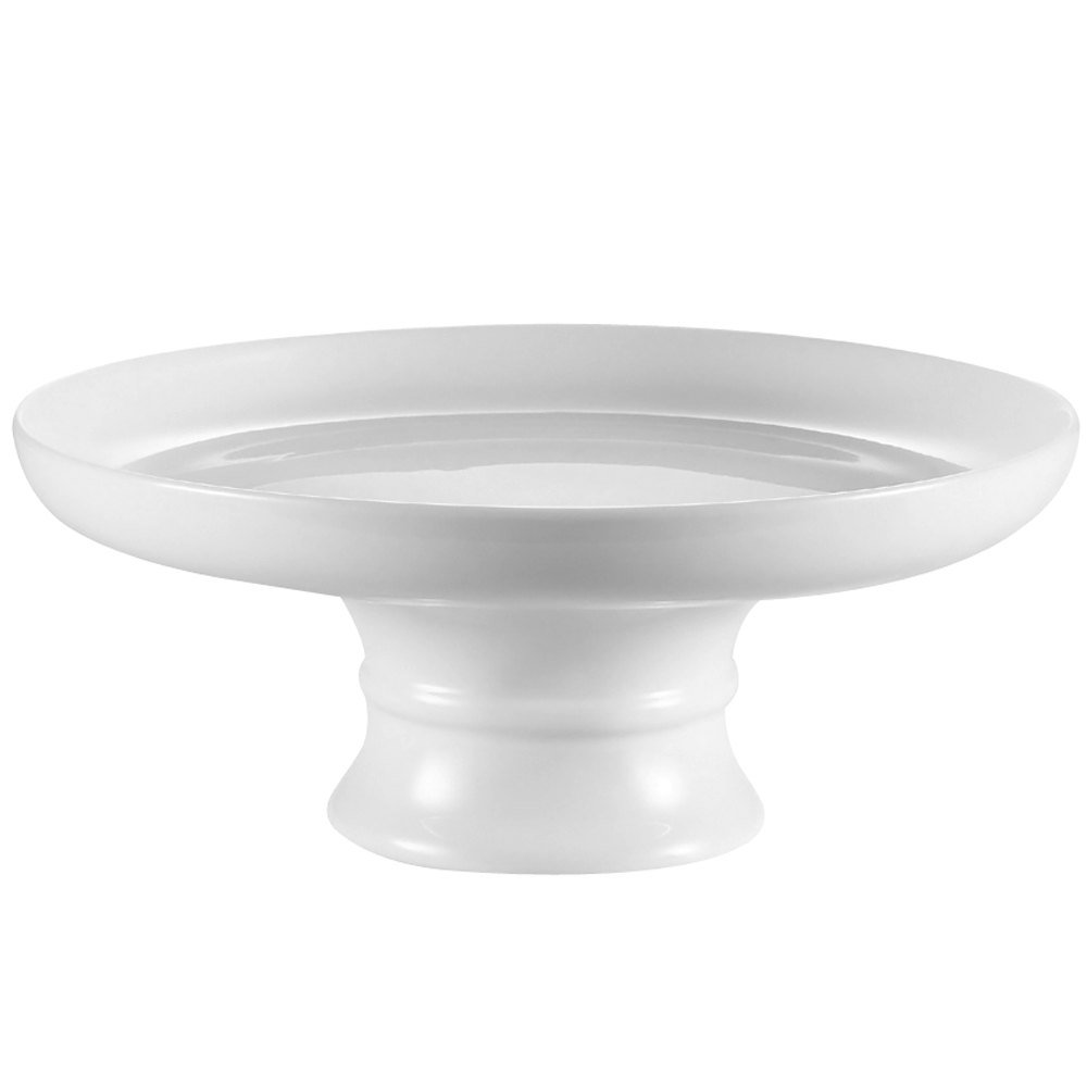 "CAC CKST-8C White China Coupe Cake Stand 8"" x 2 3/4"" - 8/Case"