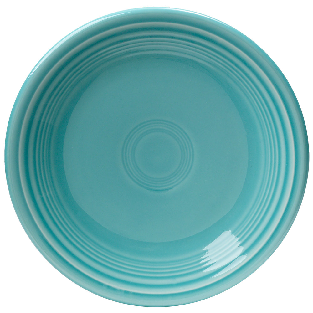 "Homer Laughlin 464107 Fiesta Turquoise 7 1/4"" Salad Plate - 12/Case"
