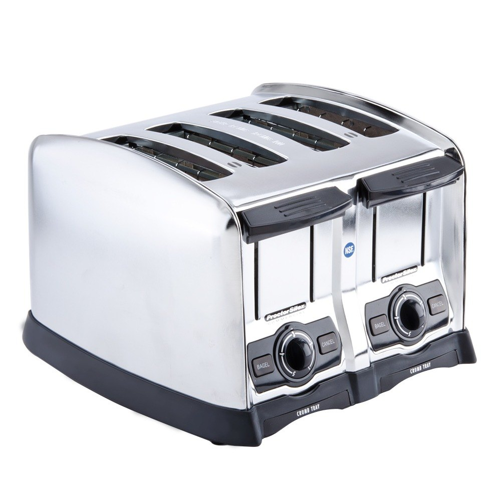 "Proctor Silex 4 Slice mercial Toaster with 1 1 2"" Wide Slots"