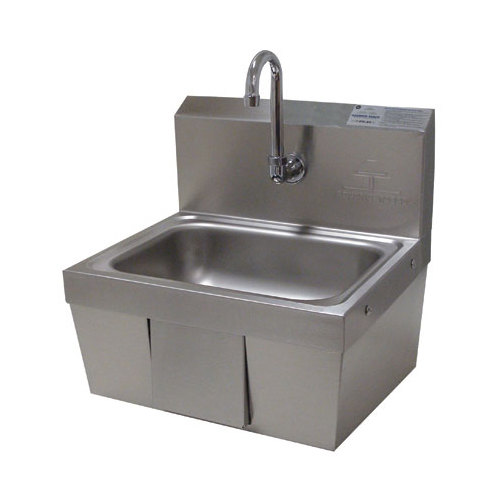 Advance Tabco 7-PS-44 Hands Free Hand Sink with Panel Valve - 17 1/4""