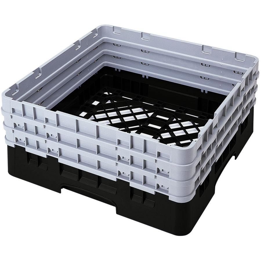 Cambro BR712110 Black Camrack Full Size Open Base Rack with 3 Extenders