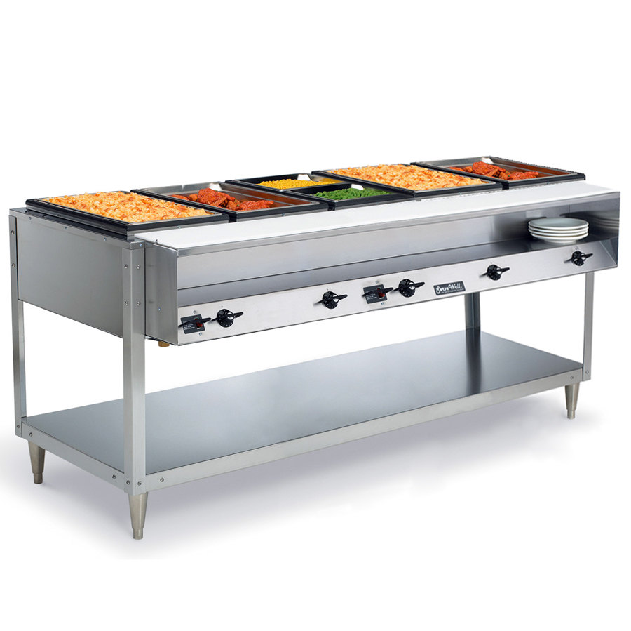 Vollrath 38105 ServeWell Electric 5 Well Hot Food Table 120V - Sealed Well