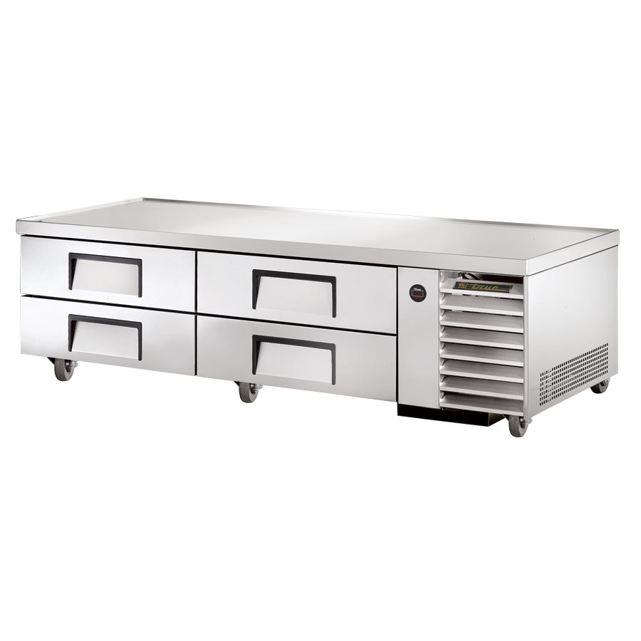 "True TRCB-79 79"" Four Drawer Refrigerated Chef Base"