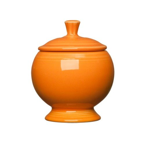 Homer Laughlin 498325 Fiesta Tangerine 8.75 oz. Sugar Dish - 4 / Case
