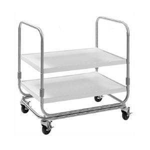 "Delfield UC-2SS Two Shelf Stainless Steel Utility Cart - 35"" x 23"""