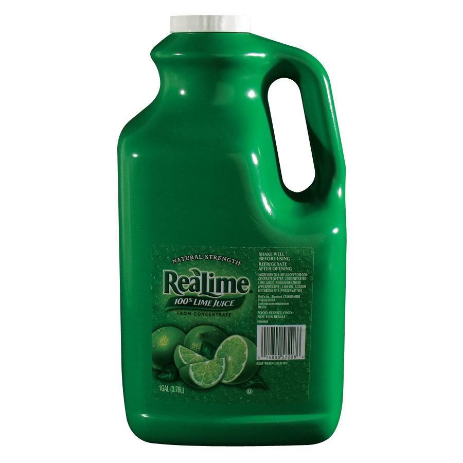 ReaLime 100% Lime Juice 1 Gallon Bottle - 4 Bottles / Case