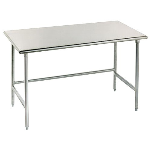 "Advance Tabco TSAG-300 30"" x 30"" 16 Gauge Open Base Stainless Steel Work Table"