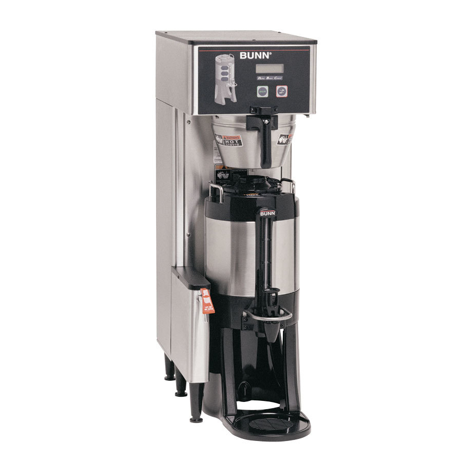 Bunn TF DBC BrewWise ThermoFresh Single Brewer with Funnel Lock - Stainless Steel 120V (Bunn 34800.0017)