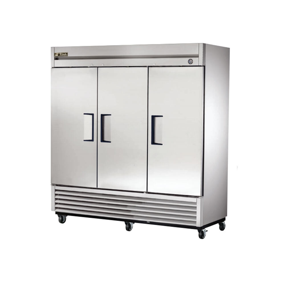 True T-72F 3 Door Bottom Mounted Reach-In Freezer