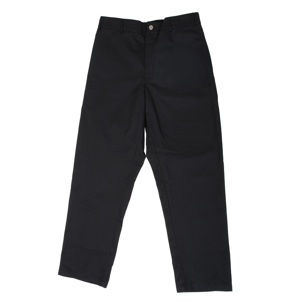 Chef Revival P034BK Size S Black Chef Trousers - Poly-Cotton