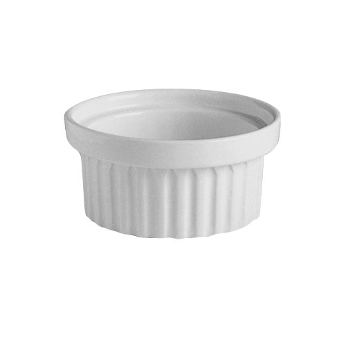 Hall China 1130AWHA Ivory (American White) 2 oz. Stacking China Ramekin - 36/Case