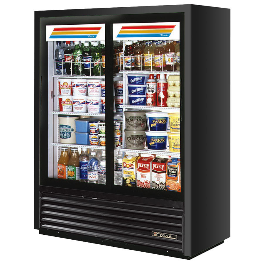 True GDM-41SL-60 47 inch Black Convenience Store Glass Door Merchandiser - 19 Cu. Ft.