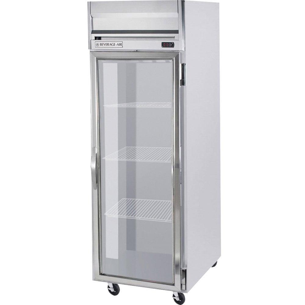 Beverage air hr1w 1g led 1 section glass door reach in for 1 door chiller