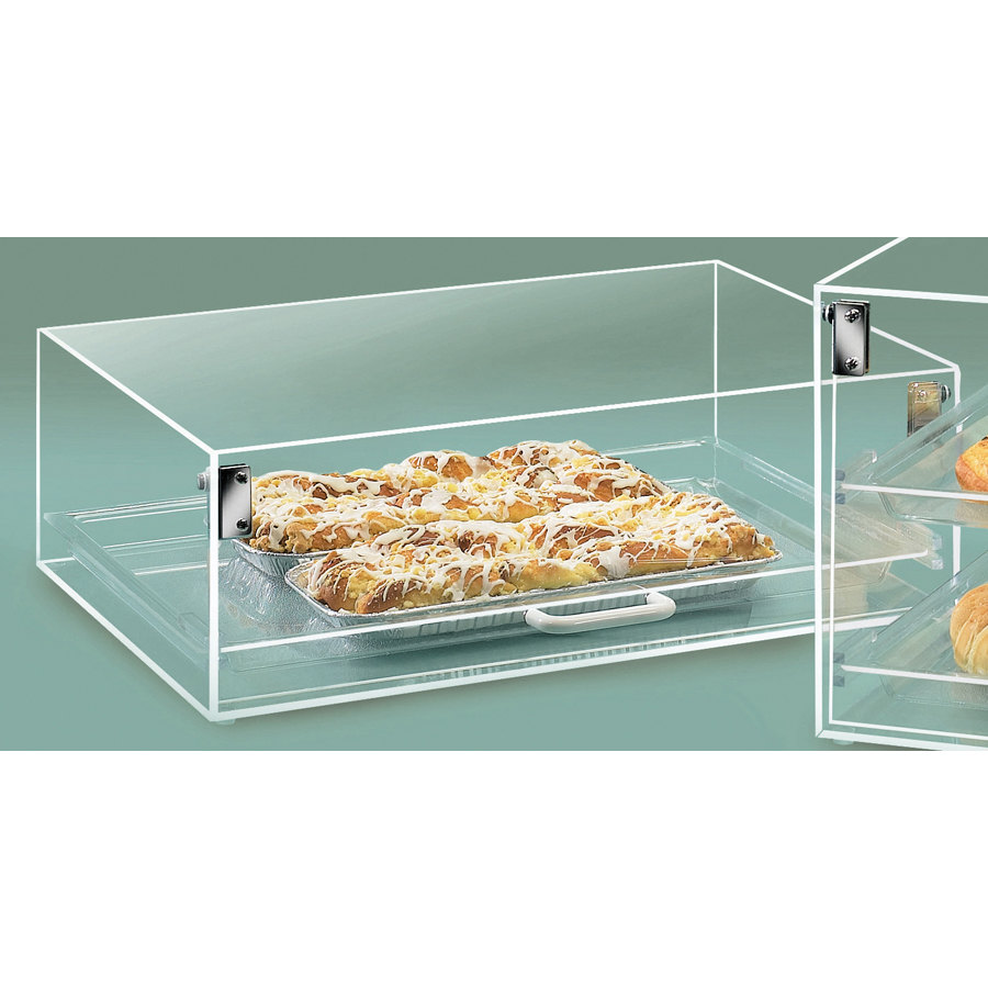 Cal Mil 920 Straight Front Stackum Case with One Door and One Shelf 18 1/2 inch x 14 inch x 6 inch