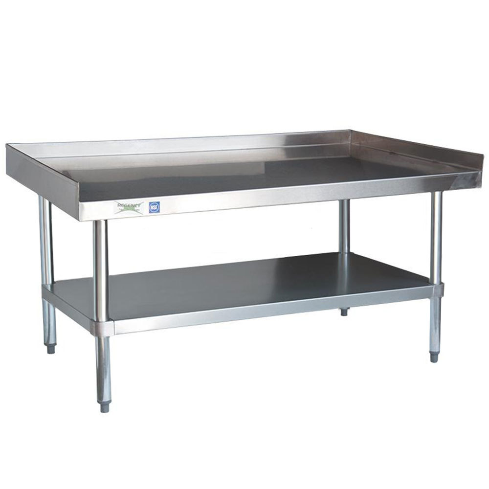 Regency 16 Gauge SES30S60-STG 30 inch x 60 inch Stainless Steel / Galvanized Steel Heavy Duty Equipment Stand with Undershelf