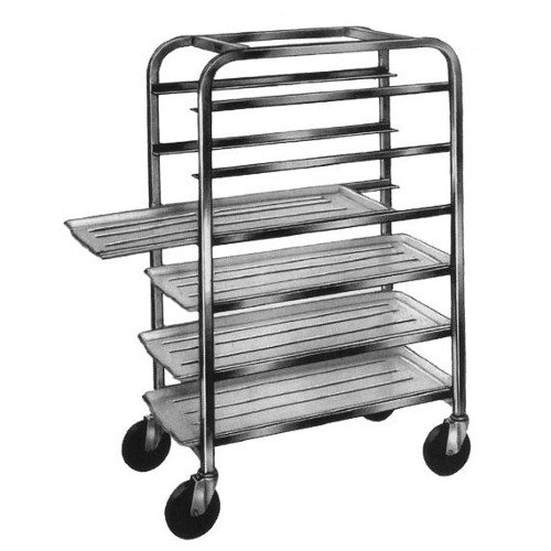 "Winholt UTC-125 End Load Aluminum Platter Cart with Worktop - Five 12"" Trays"