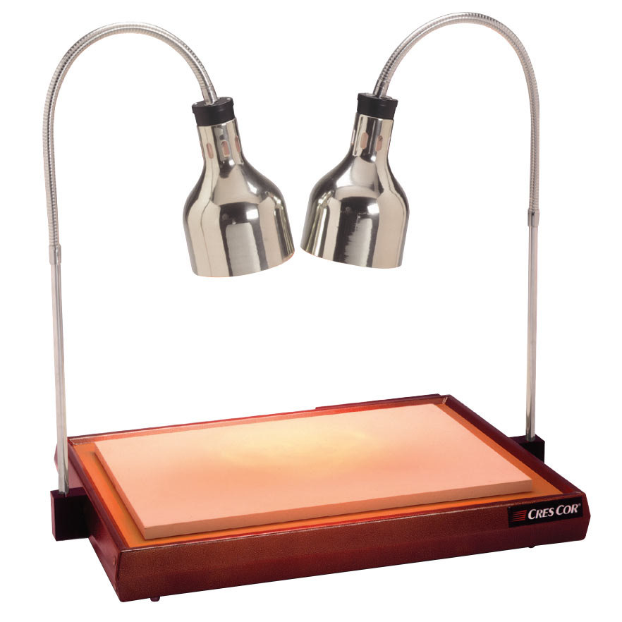 Cres cor csh pn carving station with dual heat lamps