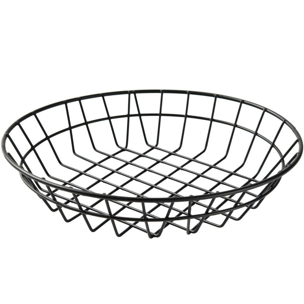 American Metalcraft WIB100 Black Round Wire Basket - 10\