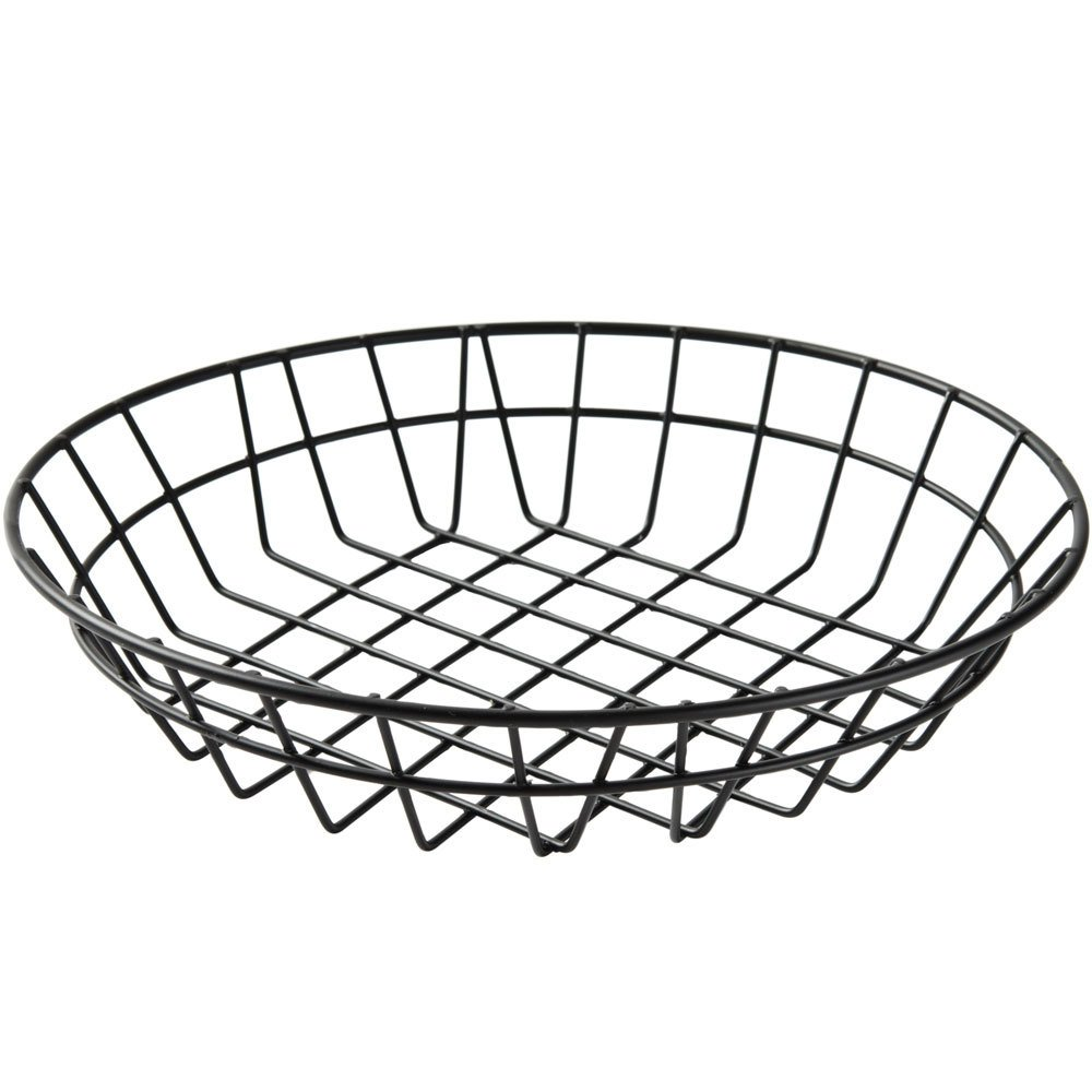 american metalcraft wib100 black round wire basket 10 x 2. Black Bedroom Furniture Sets. Home Design Ideas