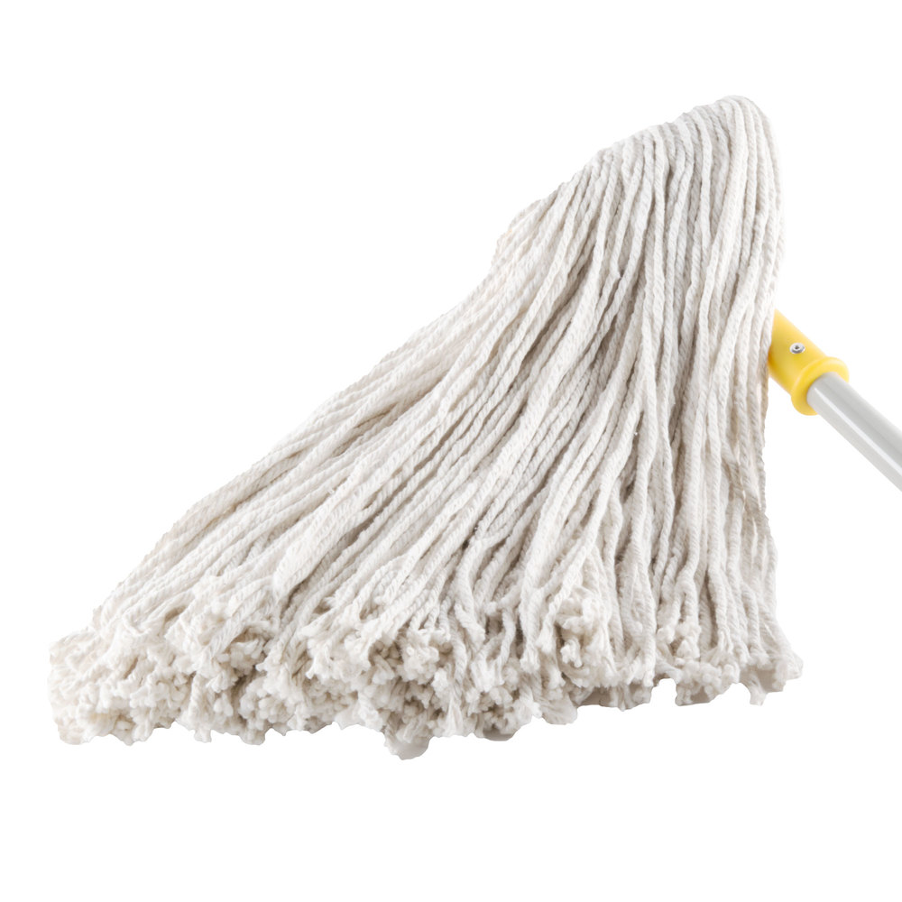 "Continental A401032 32 oz. Cut End Natural Cotton Mop Head with 5"" Band"
