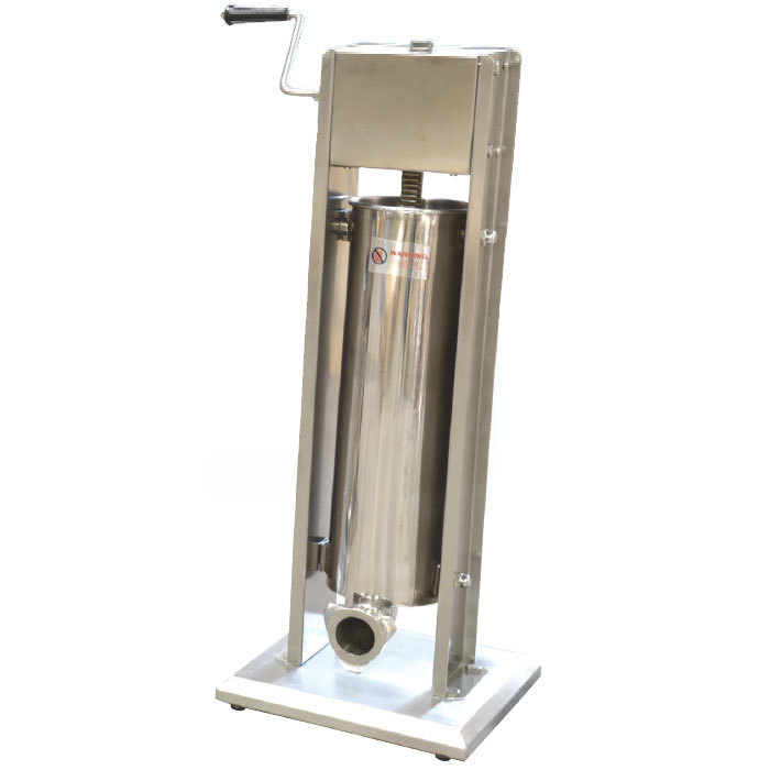 Manual 15 lb vertical economy sausage stuffer with stainless main picture sciox Image collections
