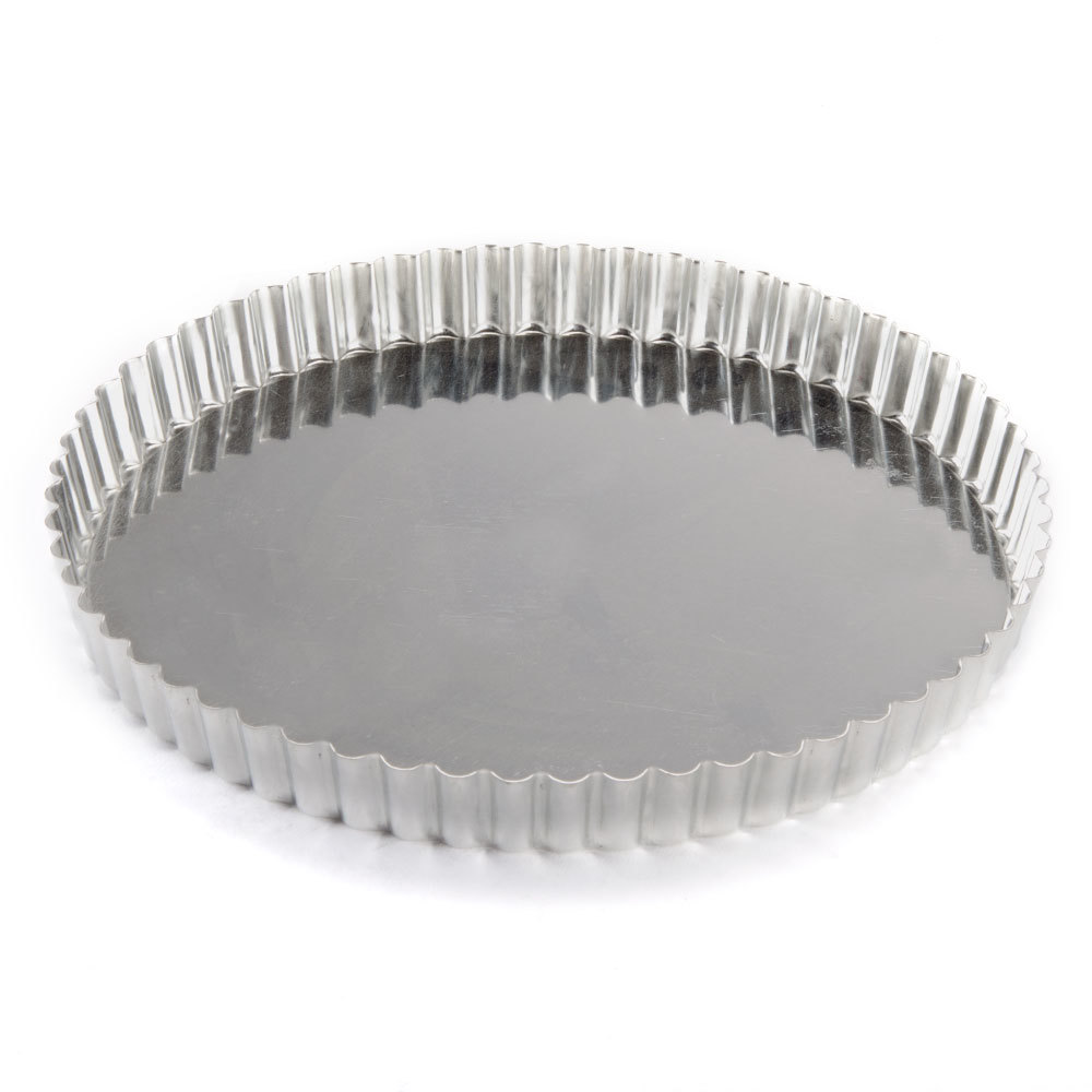 Deep tart pan with removable bottom have