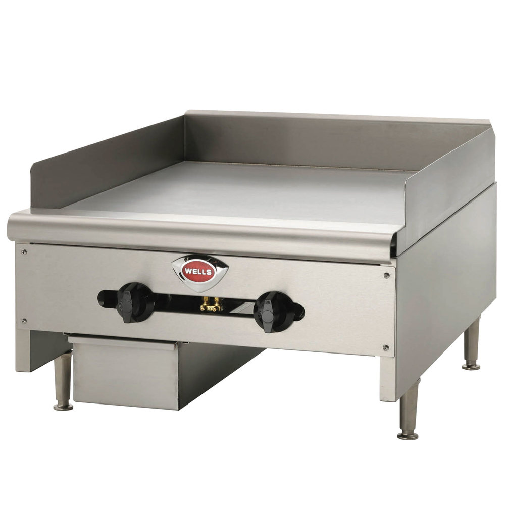 "Wells HDG-4830G Heavy Duty 48"" Gas Countertop Griddle - 120,000 BTU"