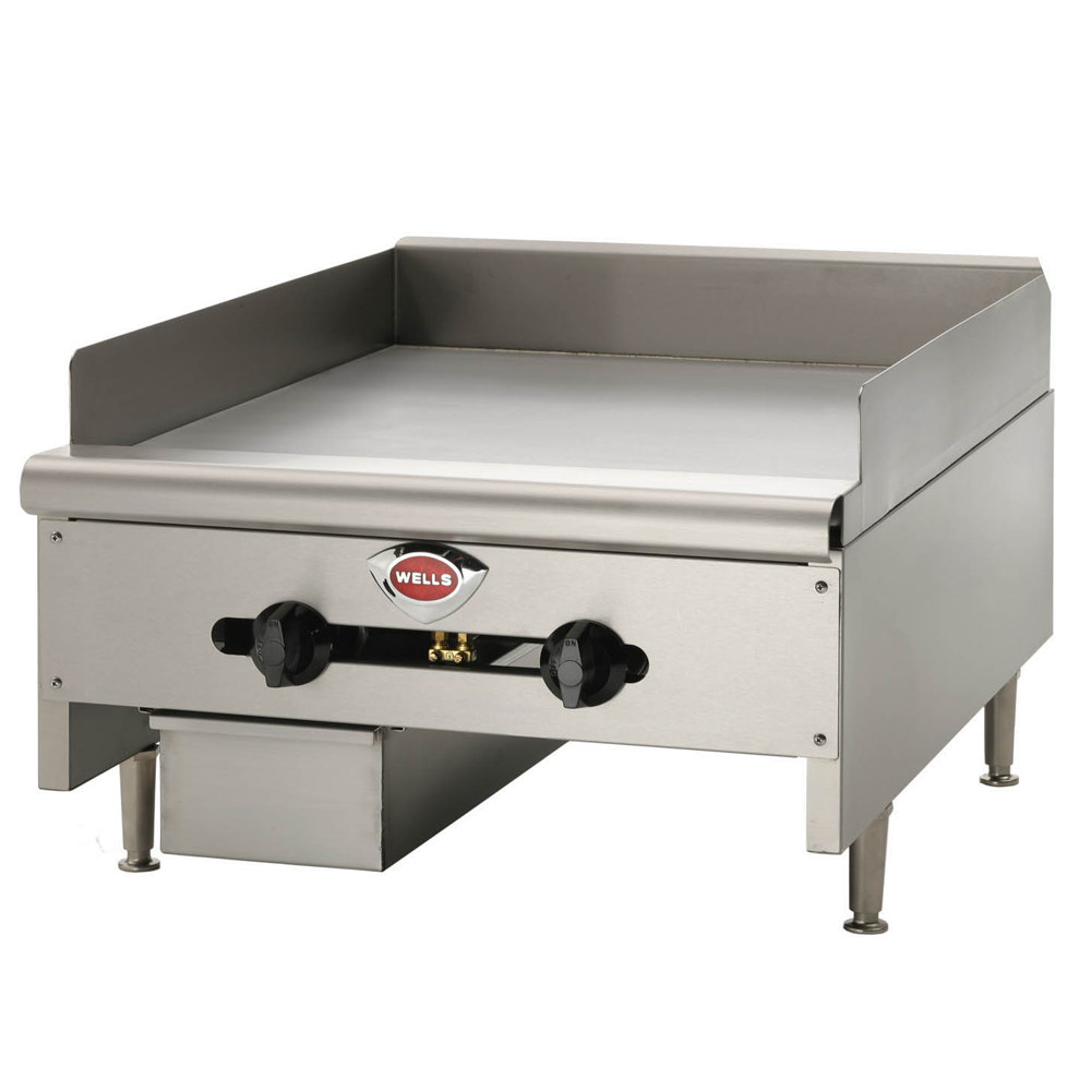 "Wells HDTG-2430G Heavy Duty 24"" Gas Countertop Griddle - 60,000 BTU"