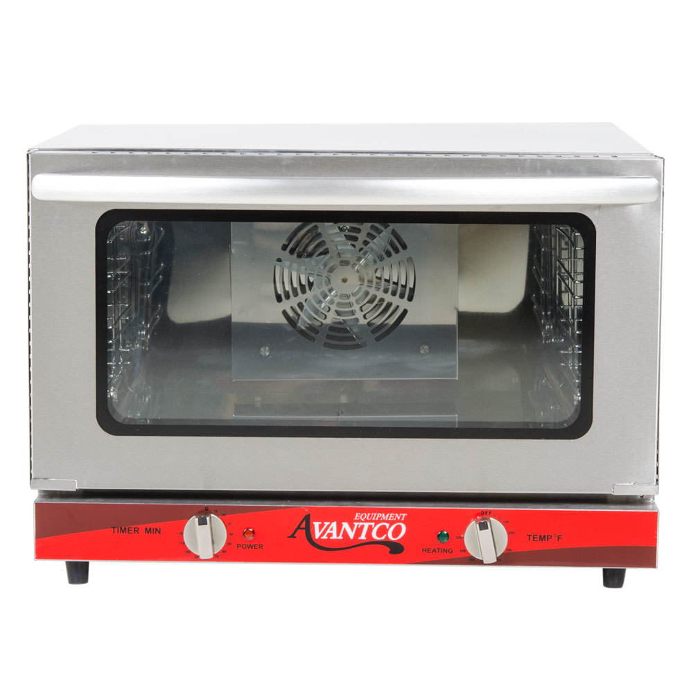 Avantco CO-16 Half Size Countertop Convection Oven, 1.5 Cu. Ft. - 120V ...