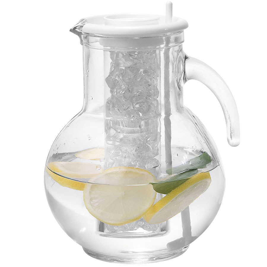 cal mil jc100 64 oz glass pitcher with ice chamber. Black Bedroom Furniture Sets. Home Design Ideas