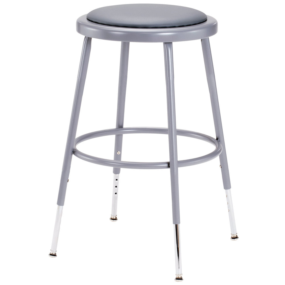 ... Adjustable Round Padded Lab Stool. Main Picture; video  sc 1 st  Webstaurant Store & National Public Seating 6418H 19