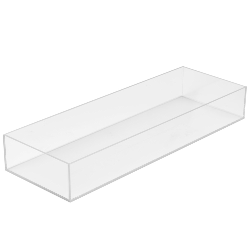 "Cal-Mil 1397-12 Cater Choice Clear Acrylic Accessory Bowl - 7"" x 20"" x 3"""
