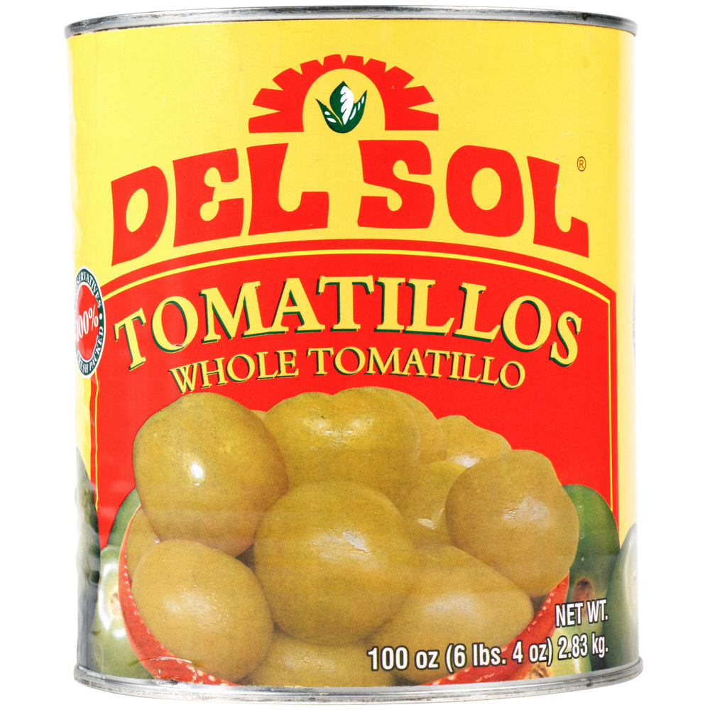 Del Sol Whole Tomatillos - #10 Can - 6/Case