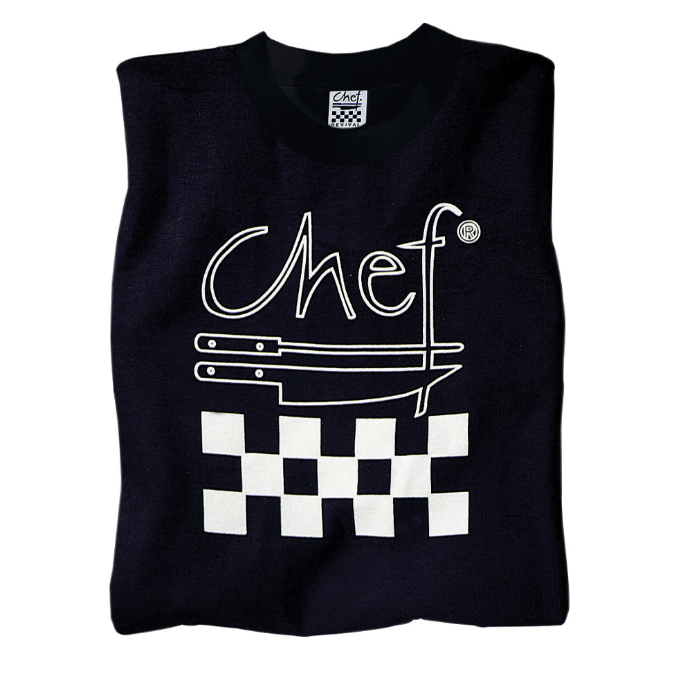 Black t shirt logo - Chef Revival Ts002 M Chef Logo Black T Shirt Cotton Size M