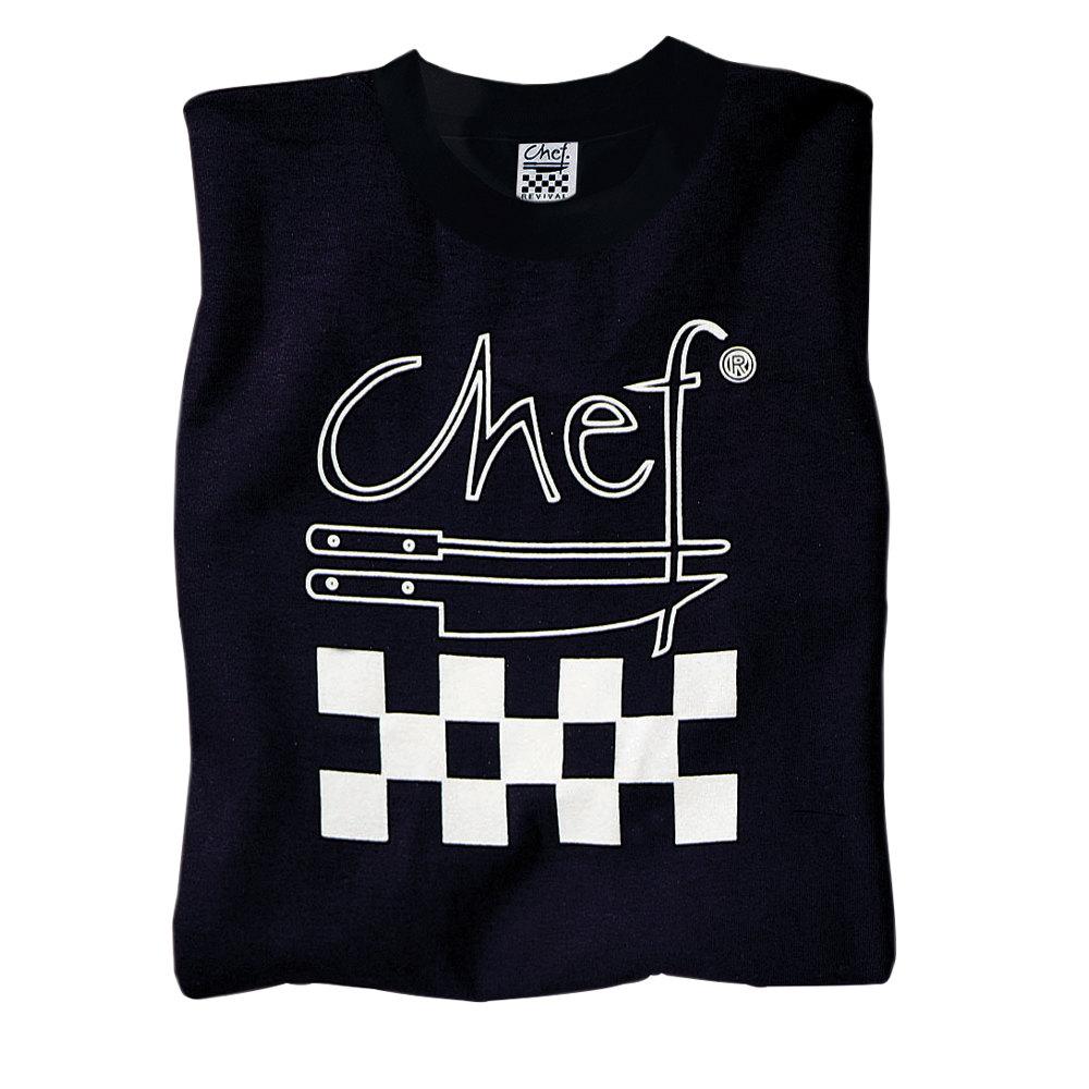 Black t shirt xl - Chef Revival Ts002 Xl Chef Logo Black T Shirt Cotton Size Xl