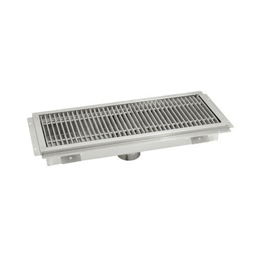 "Advance Tabco FFTG-1836 18"" x 36"" Floor Trough with Fiberglass Grating"