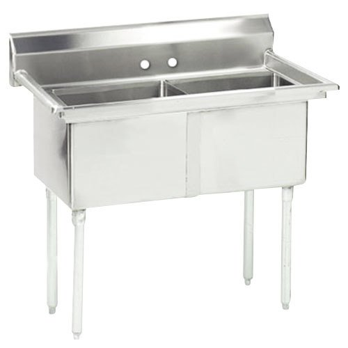 Commercial Sinks Australia : ... Tabco FC-2-1818 Two Compartment Stainless Steel Commercial Sink - 41