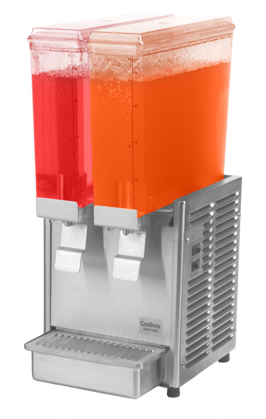 Crathco Mini Twin E-293 Double 2.4 Gallon Bowl Cold Beverage Dispenser