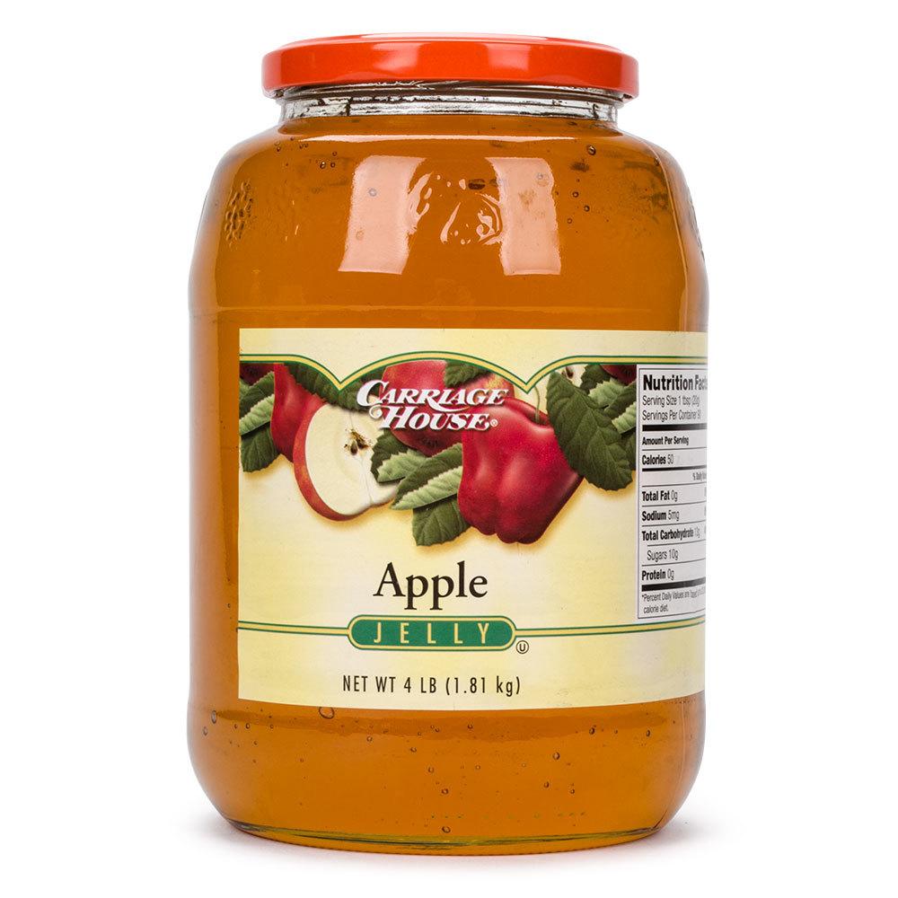Apple Jelly (6) 4 lb. Glass Jars / Case - 6/Case